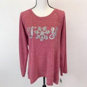 NWT Style&Co JOY Christmas Sweatshirt L